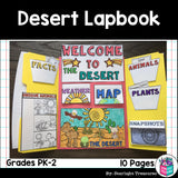Desert Lapbook for Early Learners - Animal Habitats
