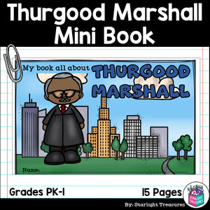 Thurgood Marshall Mini Book for Early Readers: Black History Month