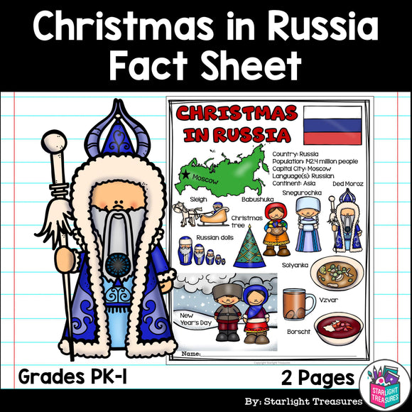 Christmas in Russia Fact Sheet for Early Readers