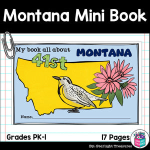 Montana Mini Book for Early Readers - A State Study