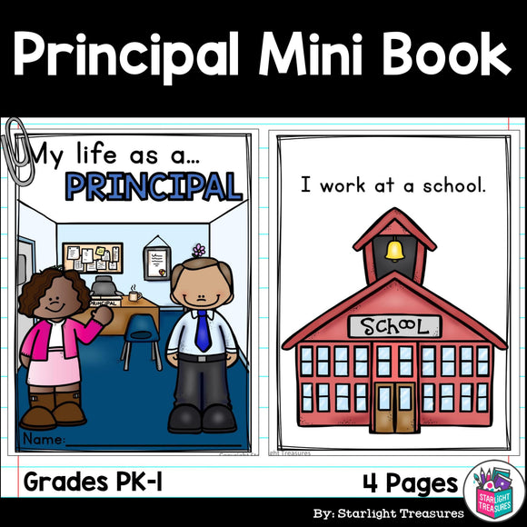 Principal Mini Book for Early Readers - Careers and Community Helpers