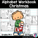 Worksheets A-Z Christmas Theme