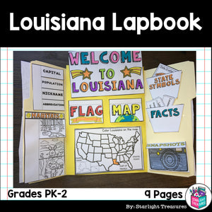 Louisiana Lapbook for Early Learners - A State Study