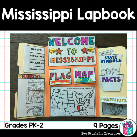 Mississippi Lapbook for Early Learners - A State Study