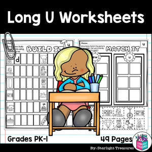 Long U Worksheets and Activities for Early Readers