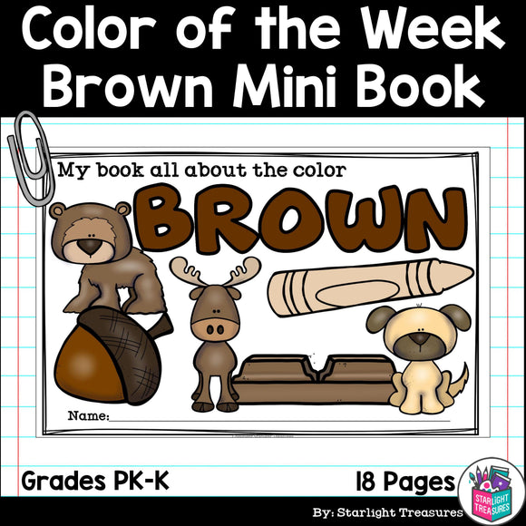 Colors of the Week: Brown Mini Book