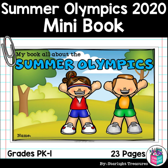Summer Olympics 2020 Mini Book for Early Readers
