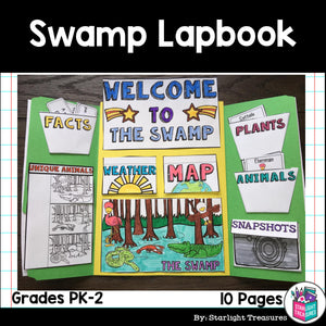 Swamp Lapbook for Early Learners - Animal Habitats