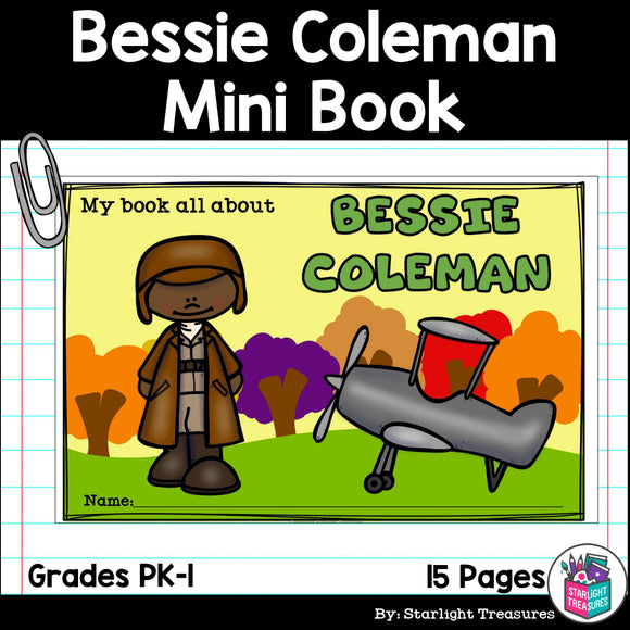 Bessie Coleman Mini Book for Early Readers