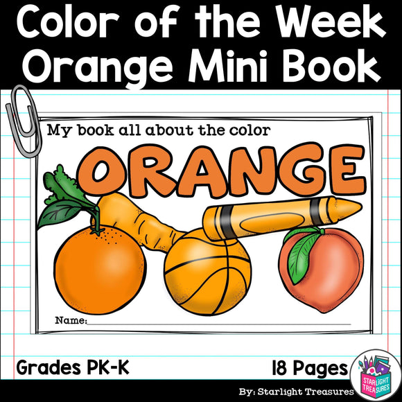 Colors of the Week: Orange Mini Book