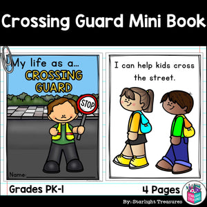 Crossing Guard Mini Book for Early Readers