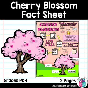 Cherry Blossom Fact Sheet for Early Readers