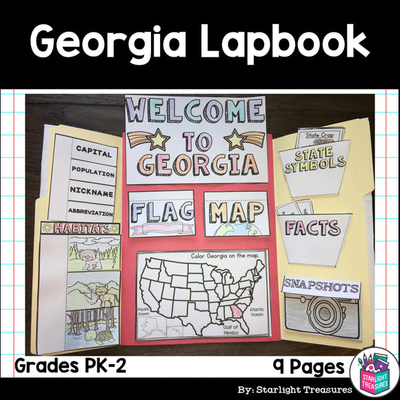 Georgia Lapbook for Early Learners - A State Study