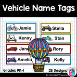 Vehicle Name Tags - Editable
