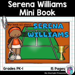 Serena Williams Mini Book for Early Readers: Women's History Month