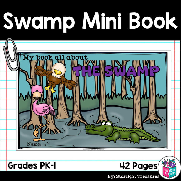 The Swamp Mini Book for Early Readers: Swamp Animals