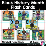 Alphabet Flash Cards for Early Readers - Black History Month