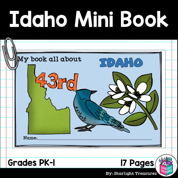 Idaho Mini Book for Early Readers - A State Study