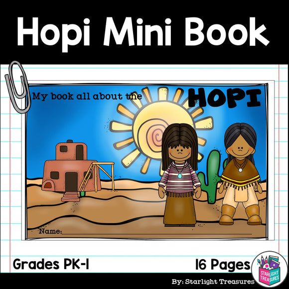Hopi Tribe Mini Book for Early Readers