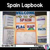 Spain Lapbook for Early Learners - A Country Study
