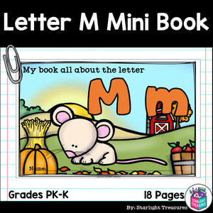 Alphabet Letter of the Week: The Letter M Mini Book