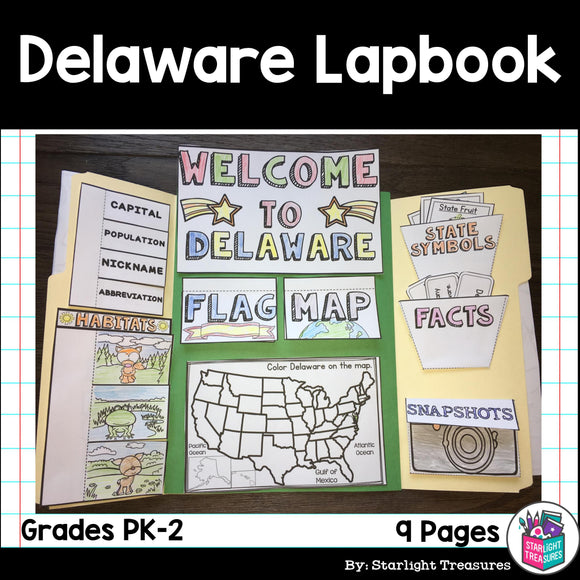 Delaware Lapbook for Early Learners - A State Study
