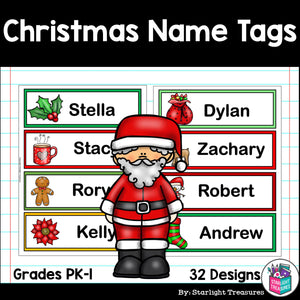 Christmas Name Tags