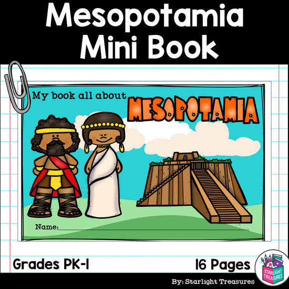 Mesopotamia Mini Book for Early Readers