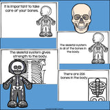 Human Body Systems: Skeletal System Mini Book for Early Readers