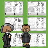 Worksheets A-Z Black History Month