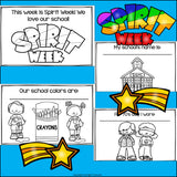 Spirit Week Mini Book for Early Readers