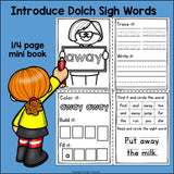 -AWAY Sight Word FREEBIE Mini Book for Early Readers - Dolch Sight Words