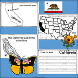 California Mini Book for Early Readers - A State Study