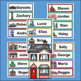 House Name Tags - Editable