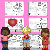Worksheets A-Z Valentine's Day Theme