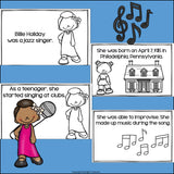 Billie Holiday Mini Book for Early Readers: Black History Month