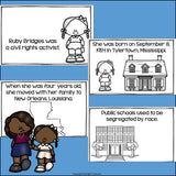 Ruby Bridges Mini Book for Early Readers: Black History Month
