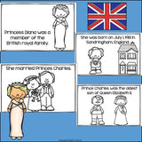 Princess Diana Mini Book for Early Readers: Women's History Month