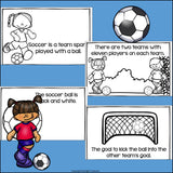 Soccer Mini Book for Early Readers: Sports