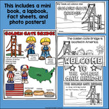 Golden Gate Bridge Complete Unit for Early Learners - World Landmarks