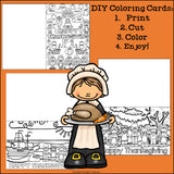 DIY Thanksgiving Coloring Cards