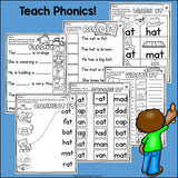AT Word Family Worksheets for Early Readers