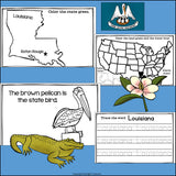 Louisiana Mini Book for Early Readers - A State Study