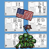 Worksheets A-Z Veterans Day