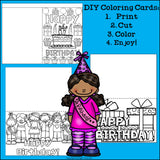DIY Birthday Coloring Cards