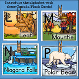 Alphabet Flash Cards for Early Readers - Country of Canada