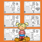 Worksheets A-Z Fall Theme