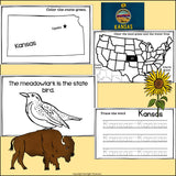Kansas Mini Book for Early Readers - A State Study