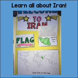 Iran Lapbook for Early Learners - A Country Study