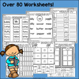 Double Consonants Worksheets and Activities for Early Readers